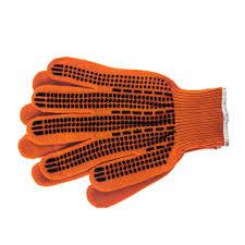 Купить <b>Перчатки трикотажные</b>, акрил, цвет: оранжевый, оверлок ...