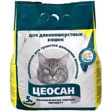 <b>Наполнитель для кошачьего туалета</b> Цеосан впитывающий, 5.0 кг