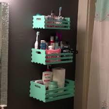 ideas bathroom storage diy diy bathroom storage  hobby lobby plain wood crates remove one side ba