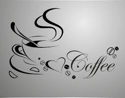 <b>coffee</b> cup, <b>free shipping</b> vinyl quote removable <b>wall</b> Stickers, DIY ...