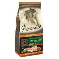 <b>Сухой корм Primordial</b> для собак беззерновой с курицей и лососем