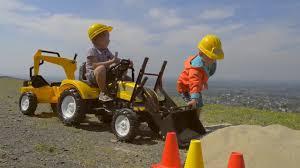 <b>Трактор</b>-<b>экскаватор педальный</b> с прицепом Traktor <b>FALK</b> 2085XC ...