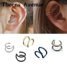 <b>New Fashion</b> 1 PC Sliver Gold Color Leaf Shape <b>Punk</b> Ear Cuff ...