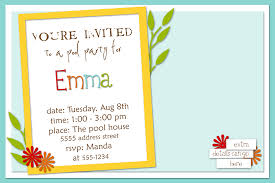 doc example of a party invitation birthday invitation sample birthday party invitations vertaboxcom example of a party invitation