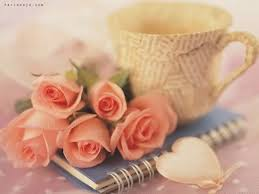 Image result for beautiful flower and coffee