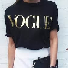 <b>Plus Size</b> XS 4XL Fashion <b>Summer T</b> Shirt Women VOGUE Printed ...