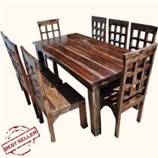 chair dining room tables rustic chairs: portland rustic furniture dining room table amp chair set w extension