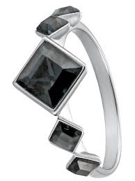 <b>Кольцо</b> Merci rhodium <b>Black Diamond</b> with Crystals from Swarovski ...