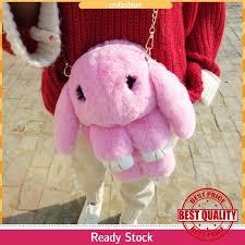 Women <b>Fashion</b> Sling Bag <b>Plush</b> Rabbit <b>Cute</b> Cartoon Crossbody ...