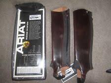 Ariat Equestrian Gaiters & <b>Half</b> Chaps <b>Leather</b> for sale | eBay