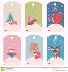 set of winter gift tags stock vector image  set of winter gift tags