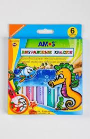 "<b>AMOS</b>.18690 <b>Набор</b> витраж.красок ""Морской конек/Черепаха"" 6 ..."