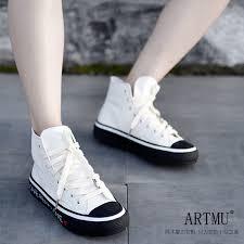 <b>Artmu Original</b> Genuine Leather High Top Women'S Shoes Flat ...