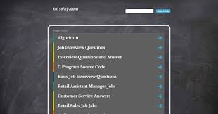 10 best websites you should follow for interview questions and answers xor swap is a technical interview website which contains list of actual interview questions asked by it companies