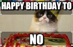 Memes Vault Happy Birthday Meme with the Grumpy Cat via Relatably.com