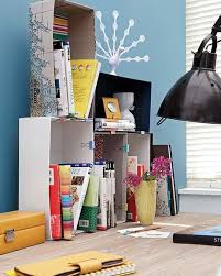 DIY Home Office Organization Desk Boxes Binder Clips Books  T