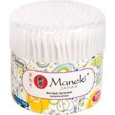 Купить <b>Ватные палочки MANEKI Lovely</b> гигиенические, с белым ...