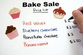 bake sign ideas our everyday life besides the bake sign announcing the and the group it benefits you ll need one or more signs listing the items for along their prices