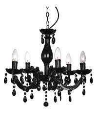 black chandelier lighting. minisun theresa five light crystal chandelier black lighting
