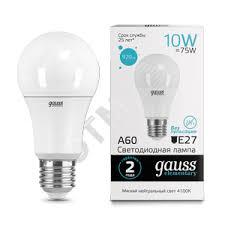 <b>Лампа</b> светодиодная <b>LED</b> 10вт 230в Е27 белый <b>Gauss</b> Elementary