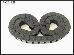 transmission chains 25 x 25mm internal size 1 05m length plastic reinforced nylon towline cable drag chain