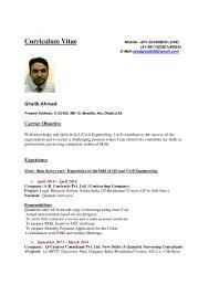 cv quantity surveyor ghalib ahmad