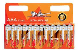 <b>Батарейки</b> LR03/<b>AAA</b> щелочные 12 шт.