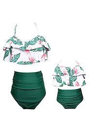 YMING Summer Cute Bikini Set <b>Family Matching Swimwear Mommy</b> ...