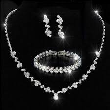 Silver <b>Coloured Cubic</b> Zirconia Costume Jewellery Sets for sale | eBay