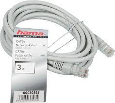 <b>Сетевой кабель Hama</b> Patch Cord cat 5e UTP (RJ45) 3m H 30595 ...