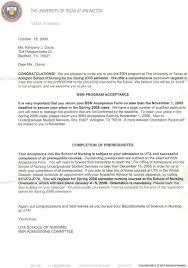 sample of acceptance letter for nursing school sample cover letter of acceptance for school related pictures sample graduate