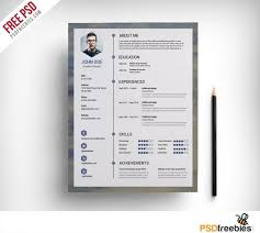 best free creative resume templates  updated free clean resume psd template