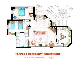 Incredibly Detailed Floor Plans Of The Most Famous TV Show Homes   Three    s Company