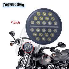 1pc <b>7inch</b> Round LED Headlights <b>12V 6000k</b> super bright high/low ...