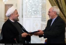 Image result for روحانی و ظریف