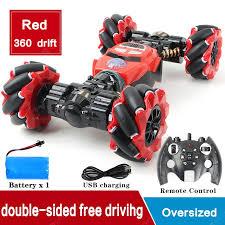 RC Car 4WD Radio Control Stunt Car Gesture Induction Twisting Off ...