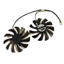 <b>85MM</b> Diameter rx 570 rs 4gb GPU VGA Card Cooler Dual Fan For ...