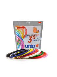 Набор пластика <b>UNID</b> для <b>3D ручек</b>: ABS9 (по 10м. 9 цветов в ...