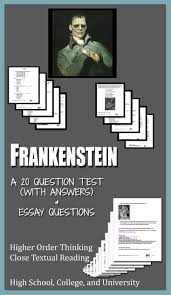 frankenstein literature ela test essay questions entire novel the o jays