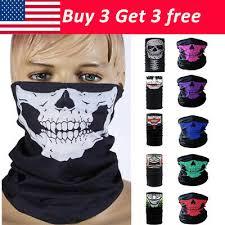 Череп лицевая маска скелет шейный шарф труба шарф-хомут ...