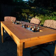 patio table built hidden patio table with built in beer wine coolers with beer