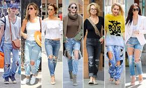 Why is everyone wearing <b>ripped jeans</b>? | Daily Mail Online