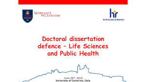 thesis defence FAMU Online Thesis defence Doctoral course in Life Sciences and Public International School of Advanced Studies Unicam data di pubblicazione