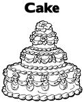 Раскраски онлайн с тортами