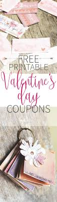 1000 images about valentine s day 12 printable valentine s day coupons watercolour painting designs one for every month of