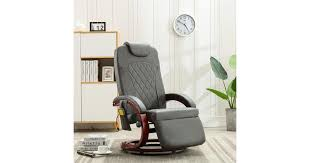 TV Massage Recliner Grey Faux Leather | Massage ... - Dick Smith