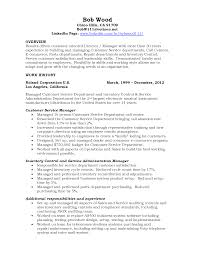 customer service manager resume example resume sample resume customer service manager resume