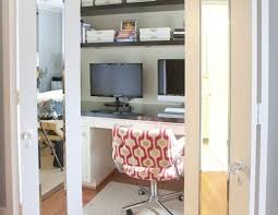 view in galleryensure that all the components of your closet home office are in alliance with each other the office chair should match the desk height and aliance murphy bed desk