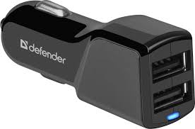 "<b>Автомобильный адаптер Defender</b> ""<b>UCA-34</b>"", 2 порта USB, 5V/3.4 ..."