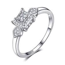 <b>JewelryPalace Exquisite 0.4ct</b> Princess-Cut Cubic Zirconia Wedding ...